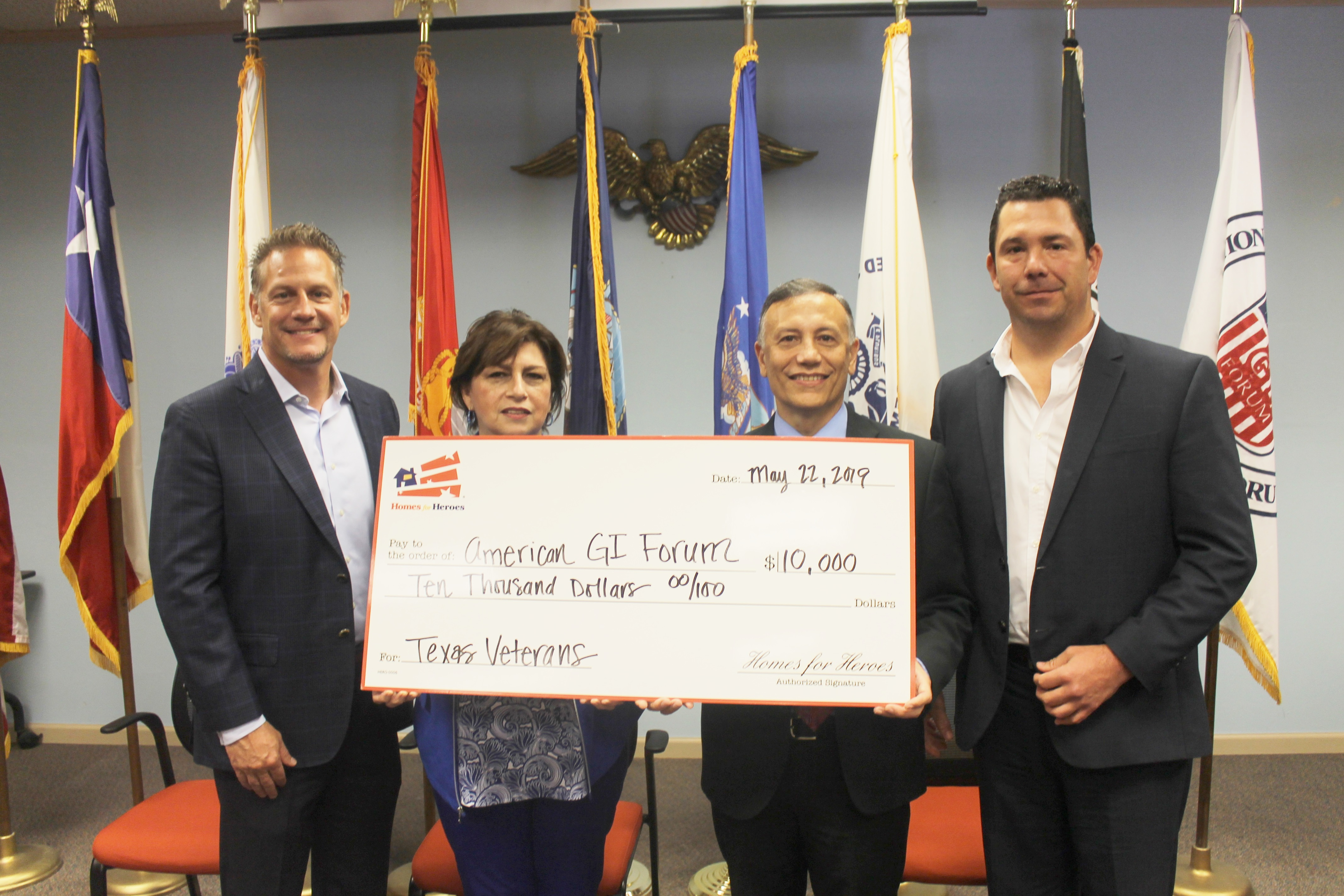 Homes For Heroes Foundation Supports Homeless Veterans with $50,000 Donation